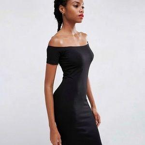 Forever 21 Dresses - Off-the-Shoulder Spandex Midi Dress
